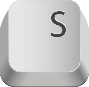 Pic of the Letter S on a computer keyboard