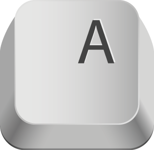 Pic of the Letter A on a computer keyboard