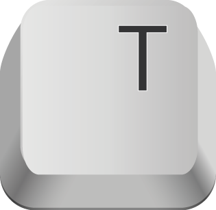 Pic of the letter T on a computer keyboard