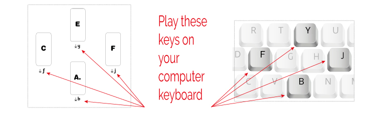 keys for pitch palette pitches
